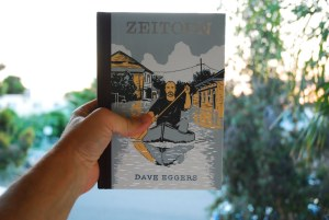 I am holding a book called Zeitoun